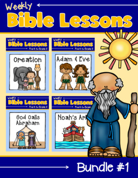 Weekly Bible Lessons: Bundle #1 {Creation, Adam and Eve, Noah's Ark & Abraham}