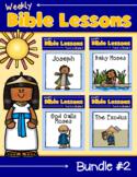 Weekly Bible Lessons:Bundle #2 {Joseph, Baby Moses, God Calls Moses, The Exodus}