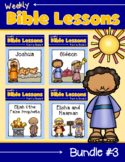 Weekly Bible Lessons: Bundle #3