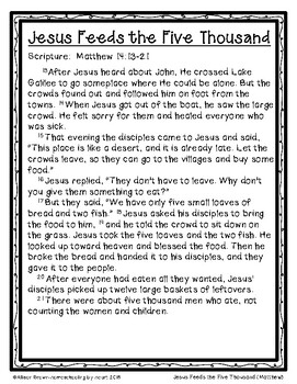 Weekly Bible Lessons: Jesus Feeds the Five Thousand