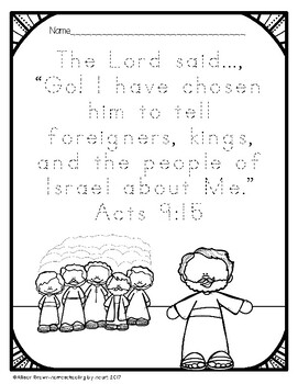 Weekly Bible Lessons: Saul Meets Jesus