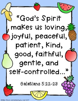 Weekly Bible Lessons: The Fruits of the Spirit