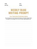 Weekly Blog Writing Prompt
