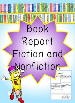 Book Report-Fiction and Nonfiction
