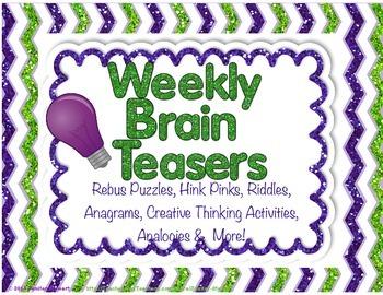 Weekly Brain Teasers to Improve Critical & Creative Thinki