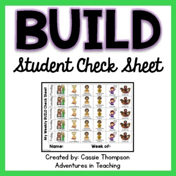 BUILD Weekly Check Sheet For Students