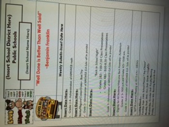 weekly bulletin template - Weekly Bulletin Template