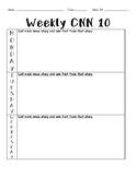 Weekly CNN 10 Worksheet