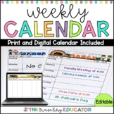 Weekly Calendar Template (Editable)