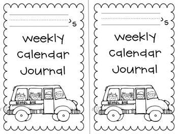 Weekly Calendar Journal - free!