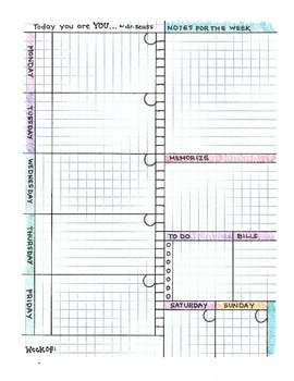 Weekly Calendar/Planner