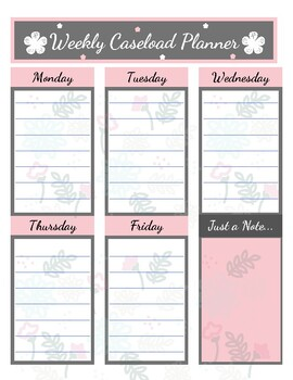 Weekly Caseload Planner