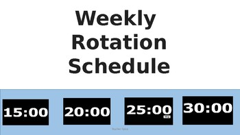 Weekly Center Rotation Slides