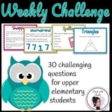 Weekly Challenge Questions for Upper Elementary