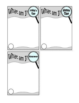 Weekly Challenge Activity Template