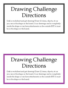 Weekly Challenge: Drawing Challenge Bulletin Board Bundle