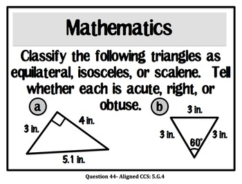 Weekly Challenge Questions for Intermediate Grades *Common Core Based*