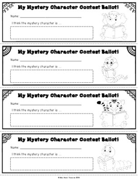 Guess the Storybook Character! - A Weekly Reading Activity - Freebie SAMPLER!