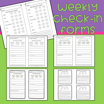 Weekly Check In Sheets