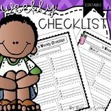 Weekly Planning Sheet | Editable