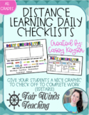 Weekly Checklist for Distance Learning (editable)