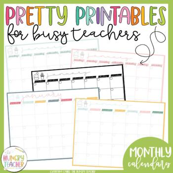Weekly Checklists Daily Checklists Monthly Calendars Printables Pretty Paper