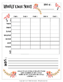 Weekly Chore Sheet With Bible Verse (1 Corinthians 15:58) & Flamingos!