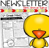 Weekly Classroom Newsletter Template Farm Animals Barn Theme EDITABLE