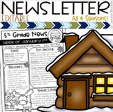 Weekly Classroom Newsletter Template Seasons Summer Winter Spring Fall EDITABLE