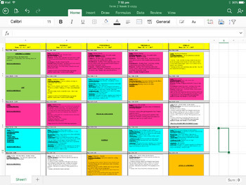 Weekly Classroom and Level Planner/Timetable Blank Templates A3 size Winzip File