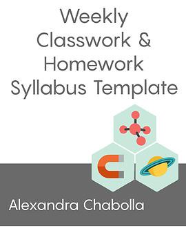 Weekly Classwork & Homework Syllabus Template