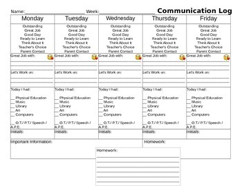 Weekly Communication Log