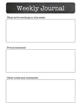 Weekly Communication Log FREEBIE