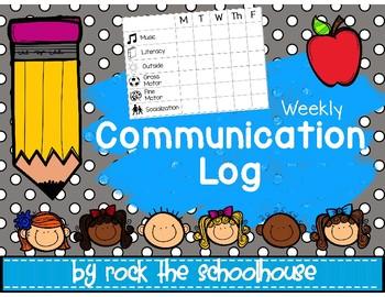 Weekly Communication Log/ Checklist