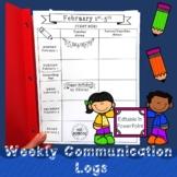 EDITABLE 2021 Weekly Communication Log {Predated}
