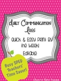 Weekly Communication Log- Special Ed Time Saver!