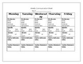 Weekly Communication Sheet