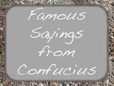 Weekly Confucius Quotes Sayings Social Studies Language Arts Character