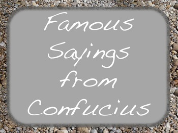 Weekly Confucius Quotes Sayings Social Studies Language Ar