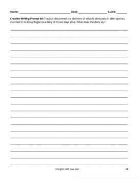 Writing Prompts (75): Creative Workbook