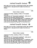 Weekly Current Events Reoccuring Journal Prompt-GATE