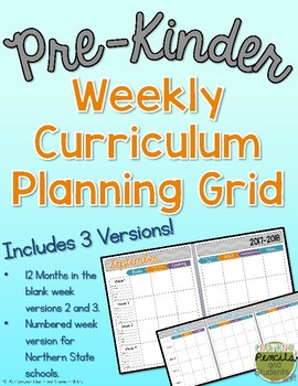 Weekly Curriculum Planning Grid