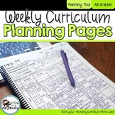 Weekly Curriculum Planning Pages