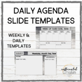 Weekly & Daily Agenda Slide Templates