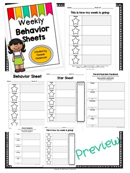 Weekly & Daily Behavior Chart