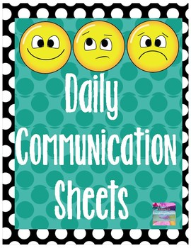 Weekly/Daily Communication Sheet