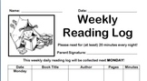 Weekly Daily Reading Log
