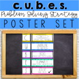 CUBES Bulletin Board Set (Math Problem Solving Strategy)