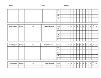 Weekly Data Sheet