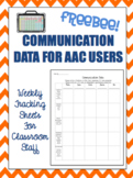 Weekly Data Tracking Sheet for AAC Users